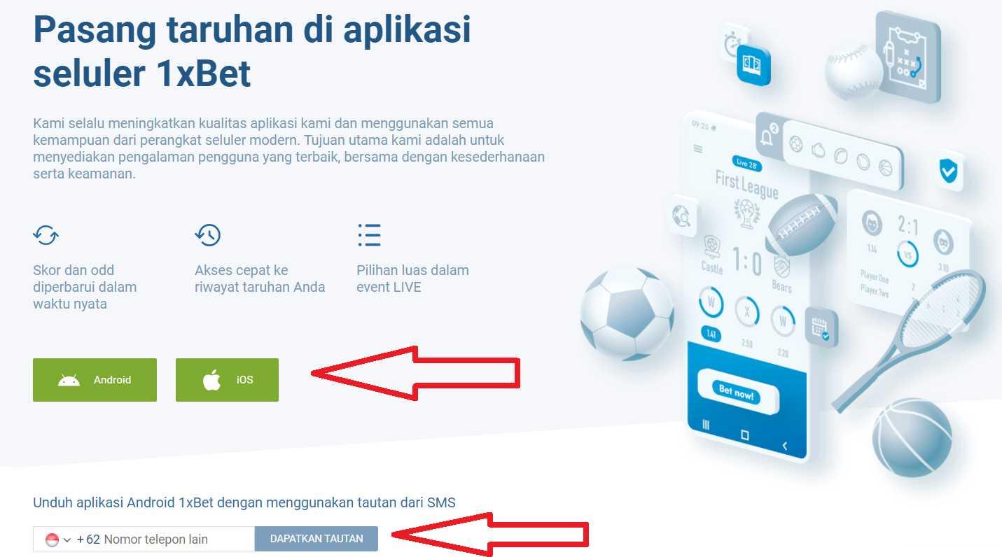 Program Aplikasi atau Windows 1xBet khusus